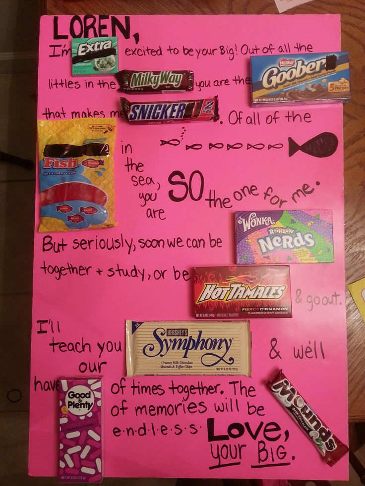 Candy Board Alpha Chi Omega Big Little Alpha Chi Omega