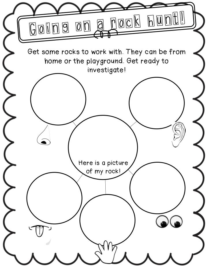 Making observations using rocks as an investigation