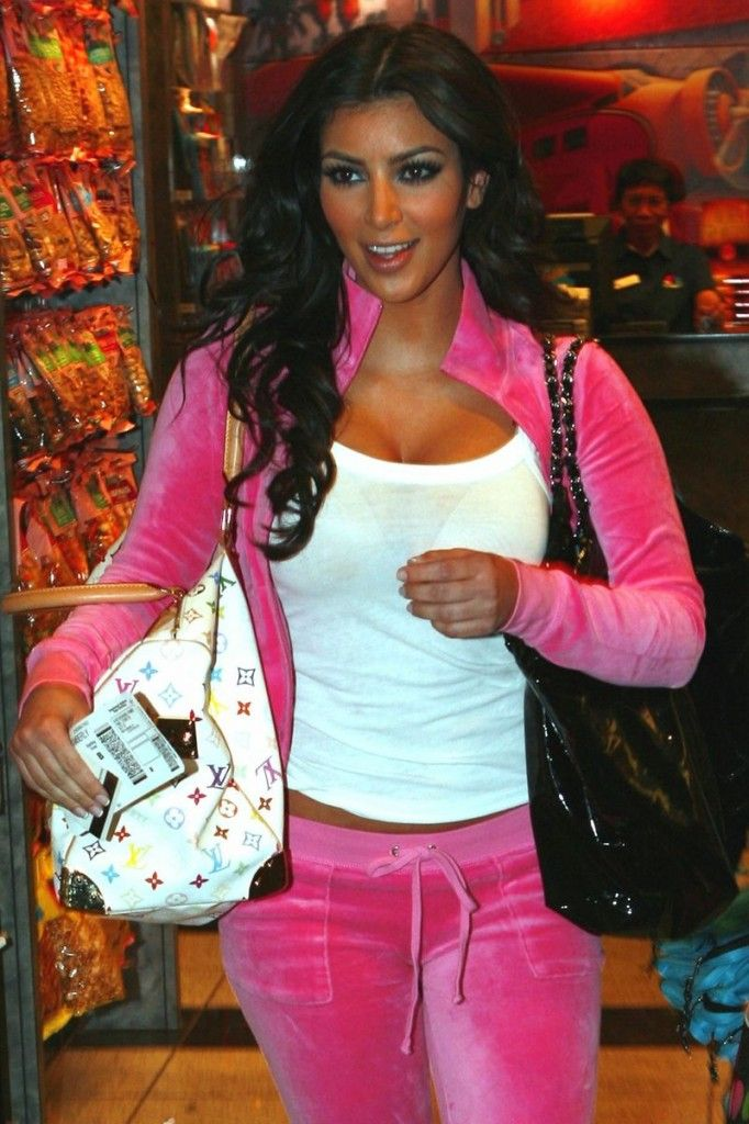 Kim Kardashian Before Fame Juicy Couture Tracksuit 2000s