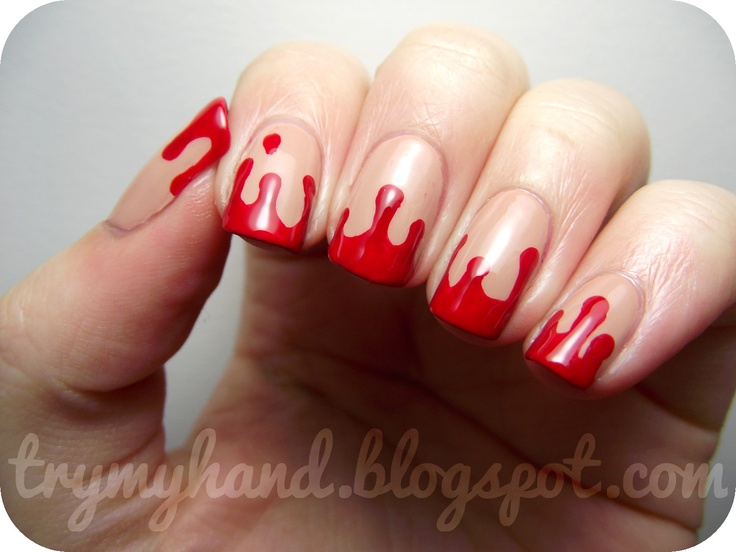 Halloween Nails : Blood Drips