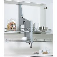 Pull-down shelf system for cabinets #kitchensource # ...