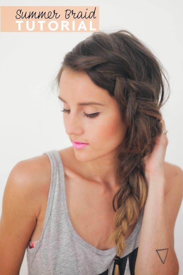 25 Best Ideas About Side Braid Tutorial On Pinterest Braids