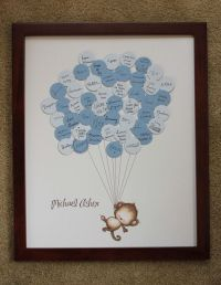 Baby Shower Guestbook-Monkey with Stripes | Guest books ...
