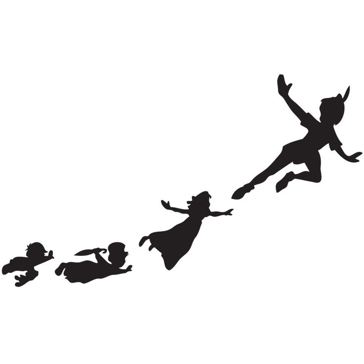 25+ best ideas about Peter pan silhouette on Pinterest