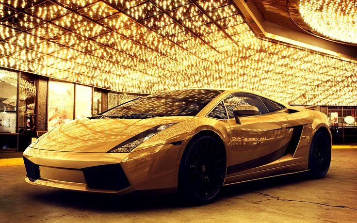 Gold car golden gallardo luxery car hd
