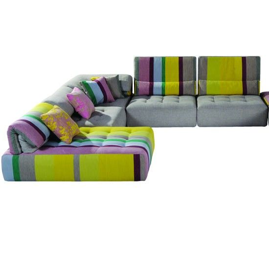 colorful sofa ideas protect arms from cats voyage immobile roche bobois   corner sofas - 10 ...