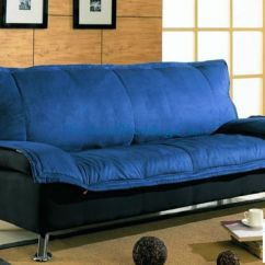 Sleeper Sofa Queen Mattress Professional Cleaning North London Deep Blue Bed In Dark And Black Cover ...