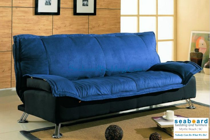 twin bed sofa couch ebay sofas used deep blue in dark and black cover ...