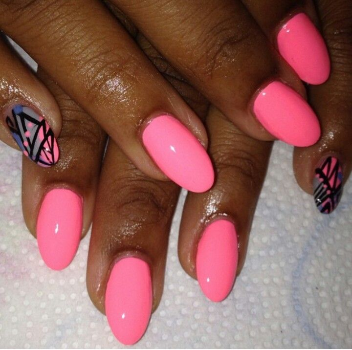 25 best ideas about Pink oval nails on Pinterest  Oval