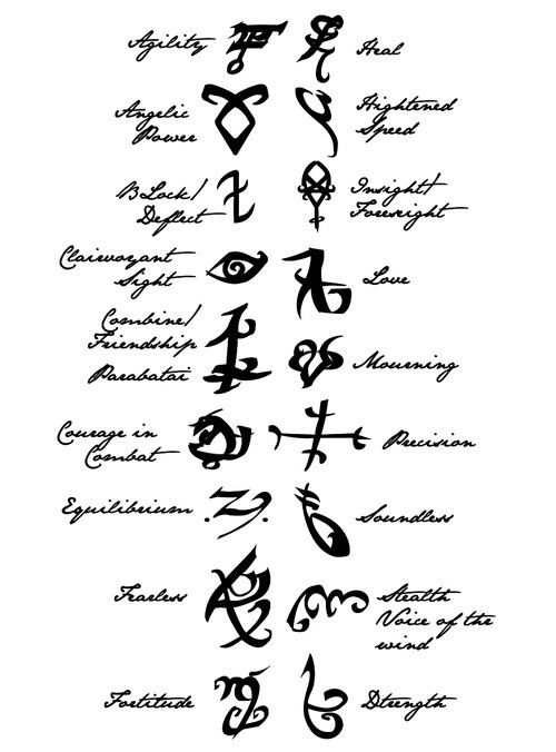 15 best images about Mortal instruments runes on Pinterest