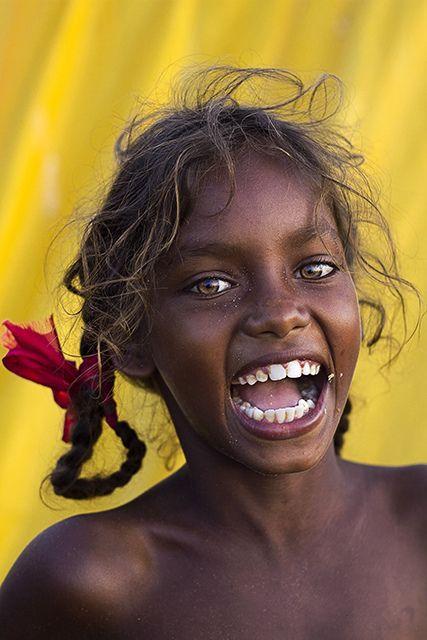 Aboriginal smile, Australia