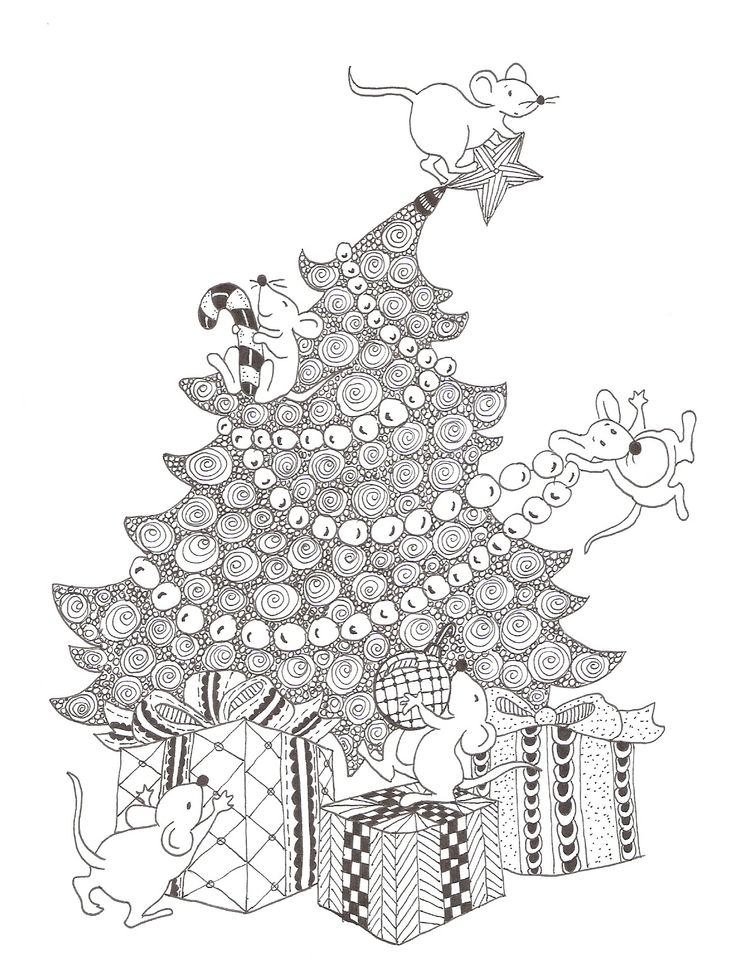 154 best images about Zentangle Christmas on Pinterest