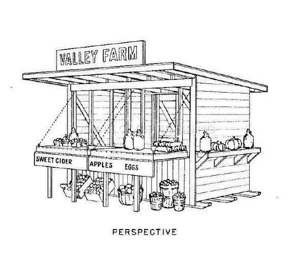 MOVABLE ROADSIDE STAND Blueprints Plans Fruit Vegetable