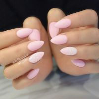 Pink Almond Nails | Nails | Pinterest | It is, Manicures ...
