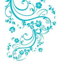 Stickerbrand Vinyl Wall Art Decal Sticker Swirl Flower ...