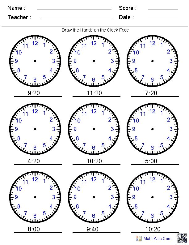 22 Best images about Telling Time Printables on Pinterest