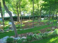 sloping backyard design
