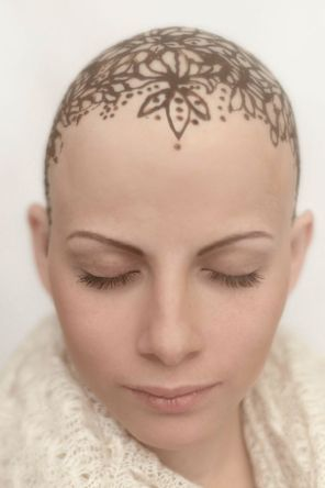 Image result for bold bald hea woman