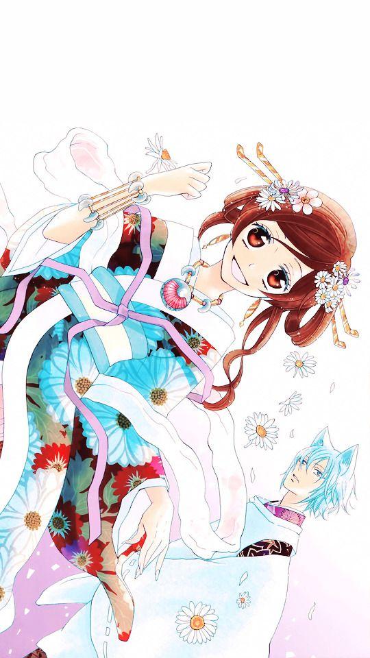 Kimono Anime Girl Android Wallpaper Nekoma Himeyona Kamisama Hajimemashita Wallpapers