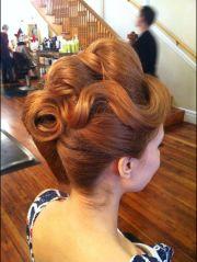 creative updo hair