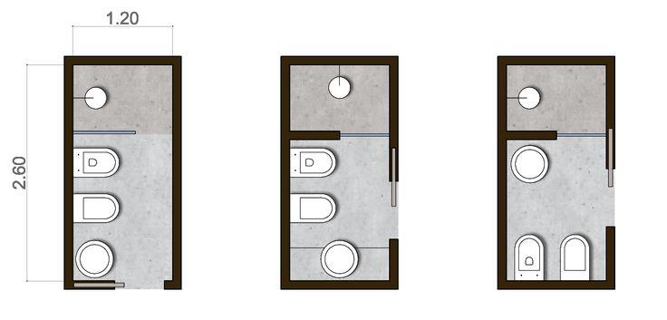 misure bagno minime progettazione  Cerca con Google  Houses  Pinterest  Piccolo and M in