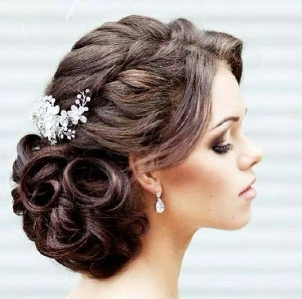 25 Best Ideas About Wedding Hairstyles For Long Hair To The Side