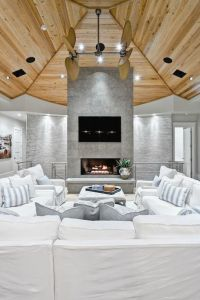 source: Beach Chic Design Gorgeous living room with wood ...