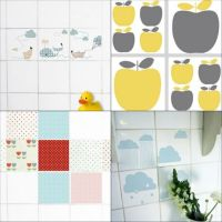 decals for tiles.. idea for covering up ugly bathroom tile ...