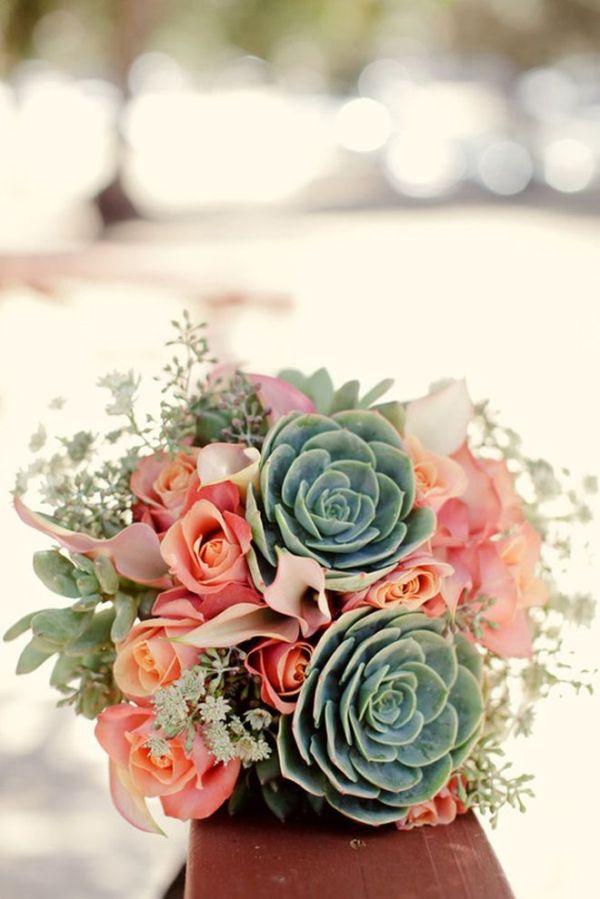 25 Stunning Wedding Bouquets Part 10 Succulents