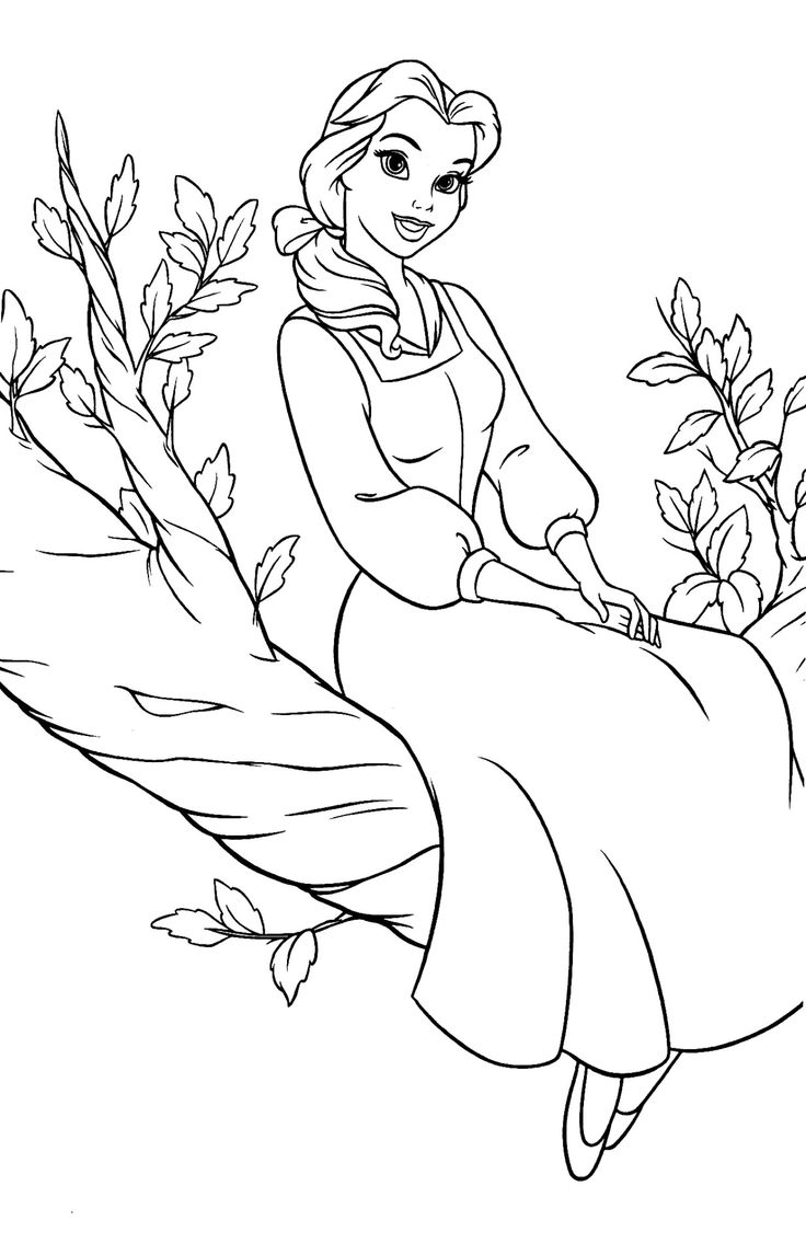 39 best images about Coloring Pages/LineArt-Disney-Beauty