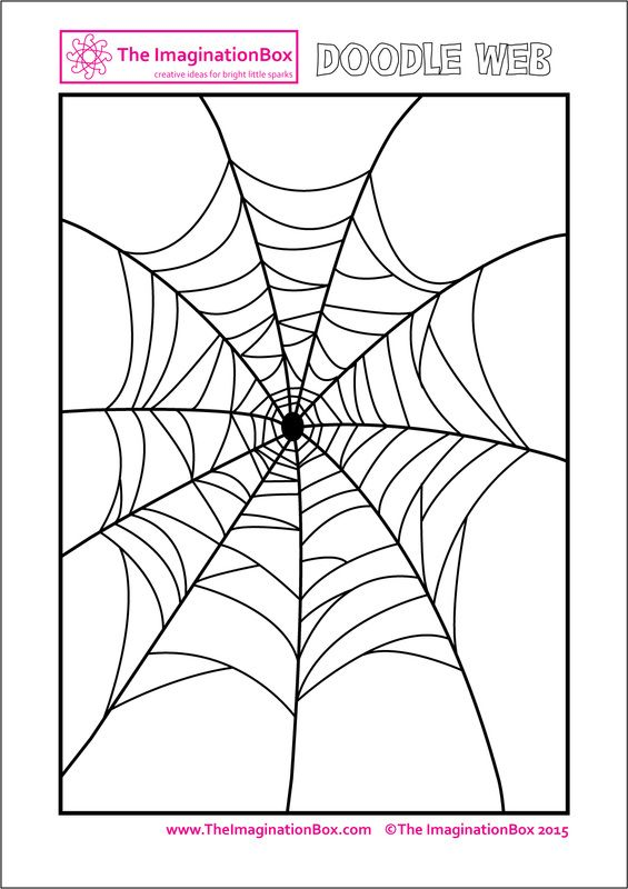 The ImaginationBox: Halloween doodle spider web, free