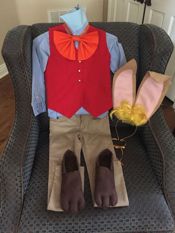 March Hare Homemade Costume DIY March Hare Costumer