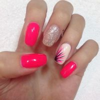 25+ best ideas about Pink nail designs on Pinterest | Pink ...
