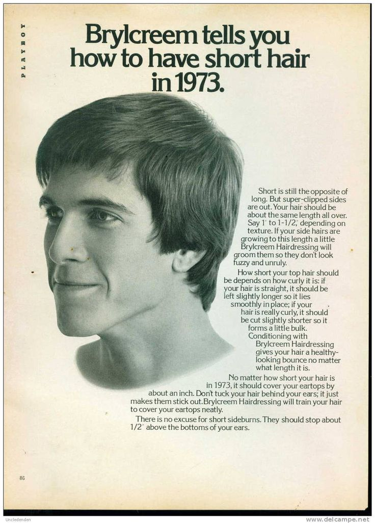 Brylcreem ad How to have short hair in 1973 Google