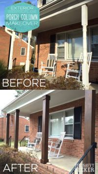 DIY_porch_column_makeover | Landscape Ideas and Front ...