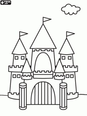 Cardboard Coloring Castle Coloring Pages