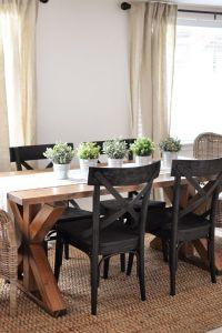 25+ best Farmhouse Dining Tables ideas on Pinterest