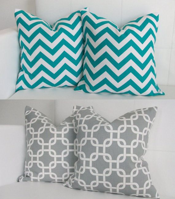 Exactly. This is what I want! A grey and white pattern and a teal and while stripe- horizontal though.