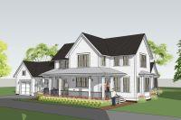 modern farmhouse with main floor master - withrow ...