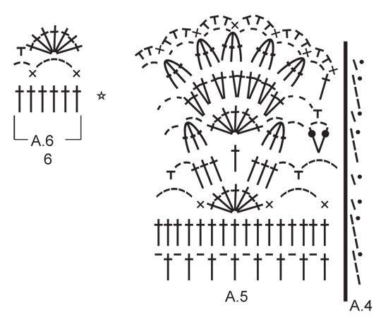 Jersey de ganchillo DROPS con patrón de calados y canesú