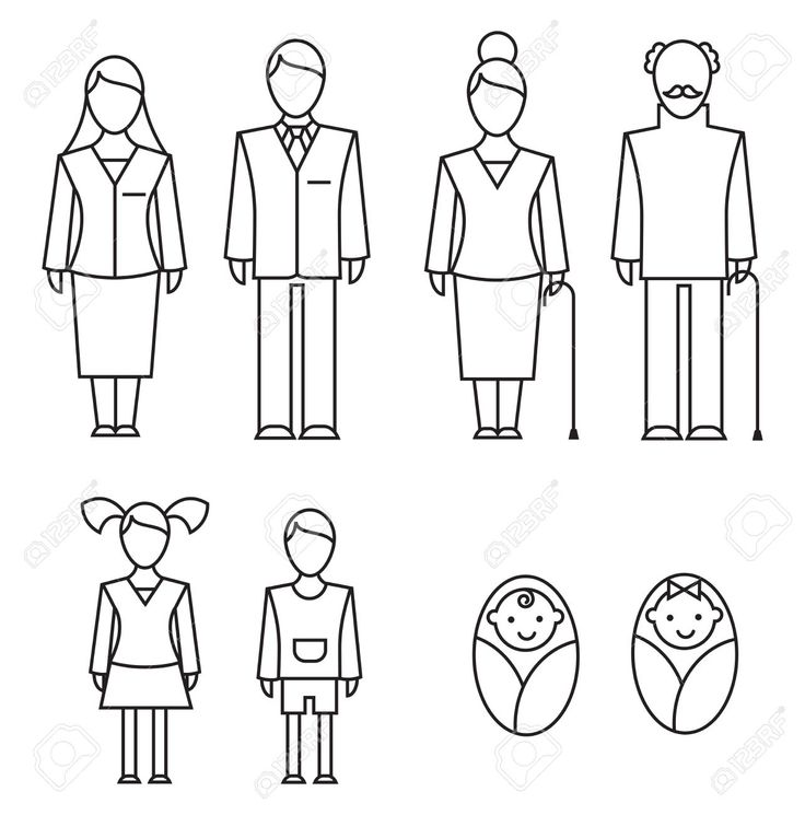 10835521-outlined-icons-of-family-members-parents
