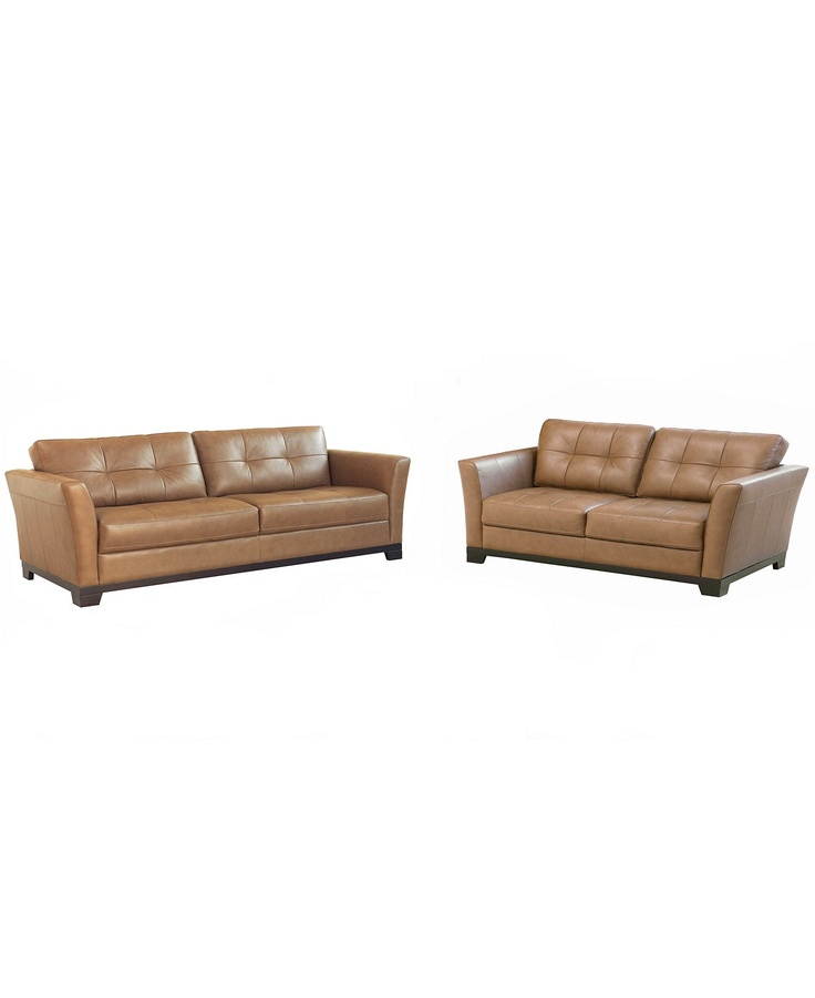 martino leather sofa fabric combination macy's living room furniture, 2 piece set ...
