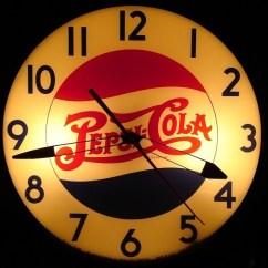 Black Chair Covers Ebay Ice Fishing Chairs 40's Vintage Pepsi Cola Clock | Retro Clocks Pinterest Pepsi, Logo And Diy Pergola