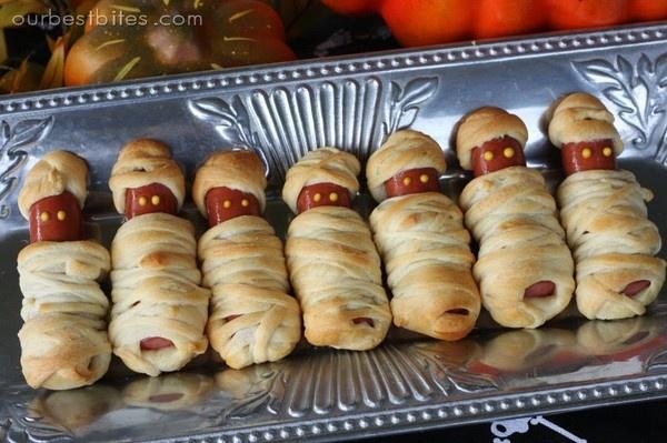 Hot dog mummies