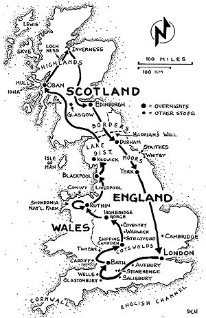 Map Of Channel Islands England