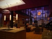 Contemporary Manhattan Loft - Living (NIGHT) | AH ...