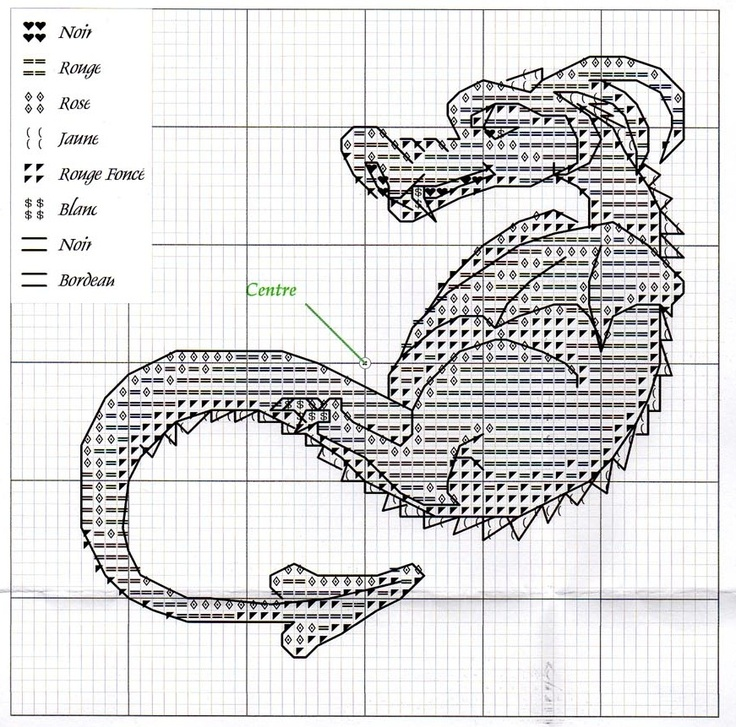 88 best images about dragon cross stitch on Pinterest
