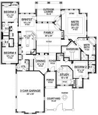 single story house plans 3000 + sq ft - Google Search ...