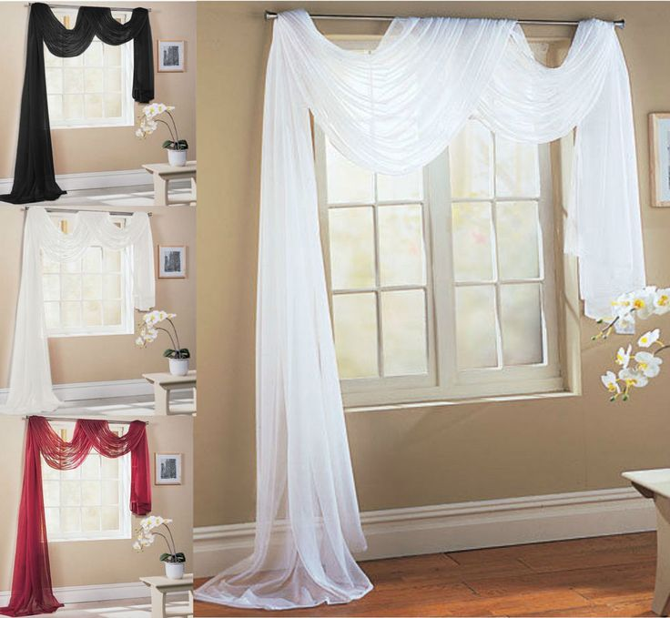 curtains for yellow living room l shaped layout ideas details about victoria plain voile scarf pelmet valance ...