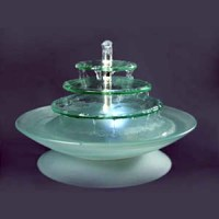 "Battery Operated 13"" Frosted Glass Fountains $64 pretty ..."